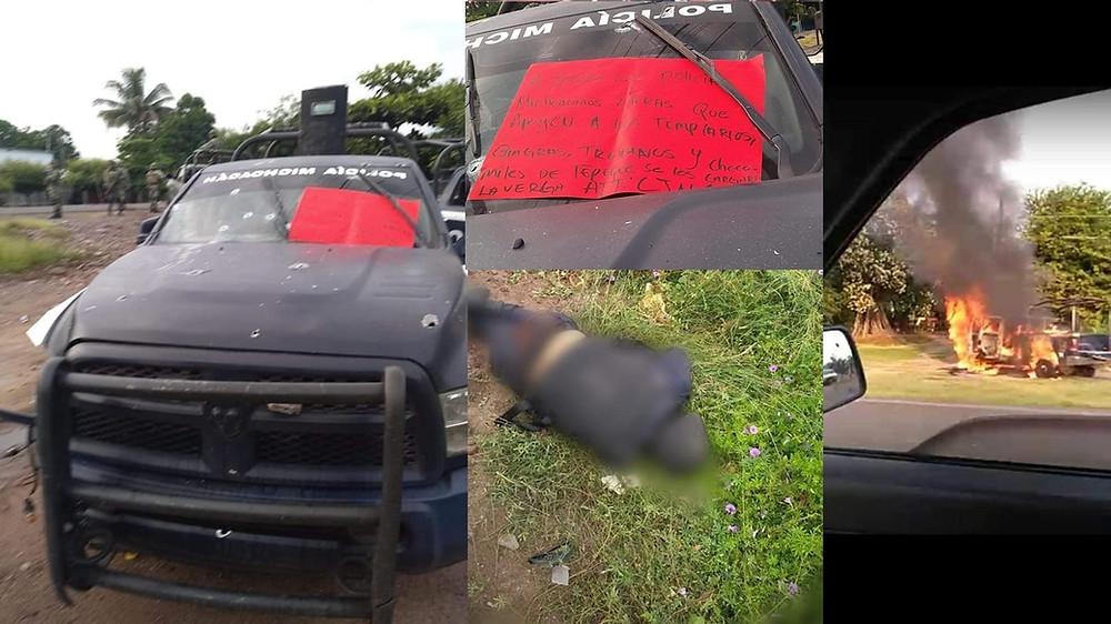 Fotogalería: Emboscan a policías en costa michoacana y mueren 14 elementos; dejan narcomensaje