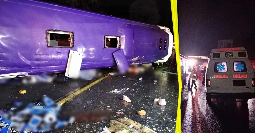 Vuelca autobús en la México-Toluca; hay 13 muertos y 24 lesionados (+Video)