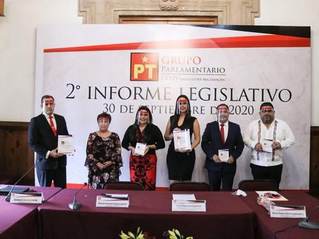GPPT hace entrega de su segundo informe de actividades legislativas
