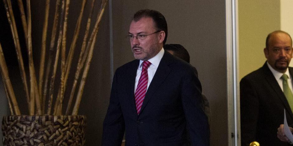 Confirman que la FGR solicitó orden de aprehensión contra Luis Videgaray