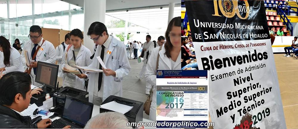 Más de 19 mil jóvenes se resistraron a la convocatoria de nuevo ingreso de la UMSNH