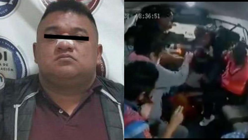 Detienen a presunto asaltante que mató a joven en combi de Naucalpan