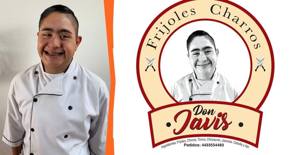 """Conoce a """"Frijoles Charros Don Javis"""", una empresa dirigida por un joven con Síndrome de Down"""