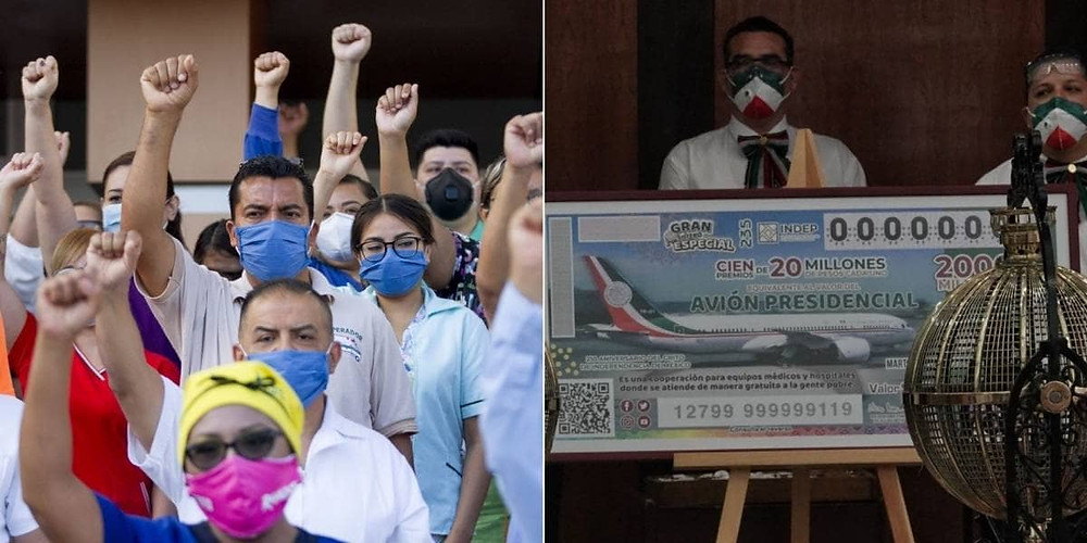 Insabi recibirá 24 'cachitos' no vendidos que ganaron premio en rifa del avión presidencial