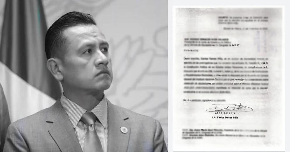 Bajan a Carlos Torres Piña de la contienda por la gubernatura de Michoacán