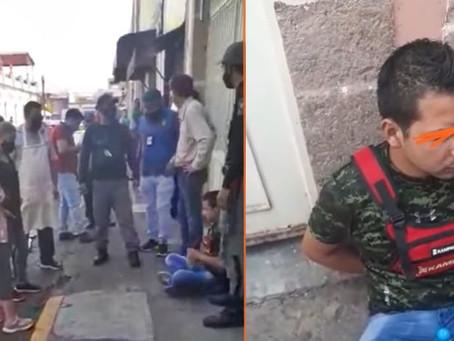 Comerciantes de Morelia intentan lincharlo por enseñar sus partes intimas a niñas (+Video)