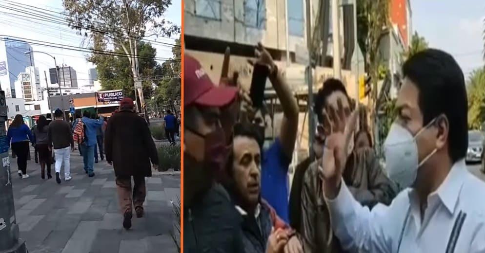 Mario Delgado no atiende petición de suspirantes morenistas michoacanos y lo corretean