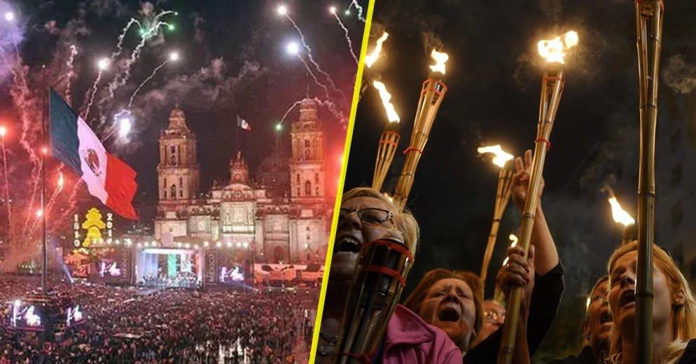 500 personas y con antorchas, propuesta de AMLO para dar el grito de la independencia en el Zócalo