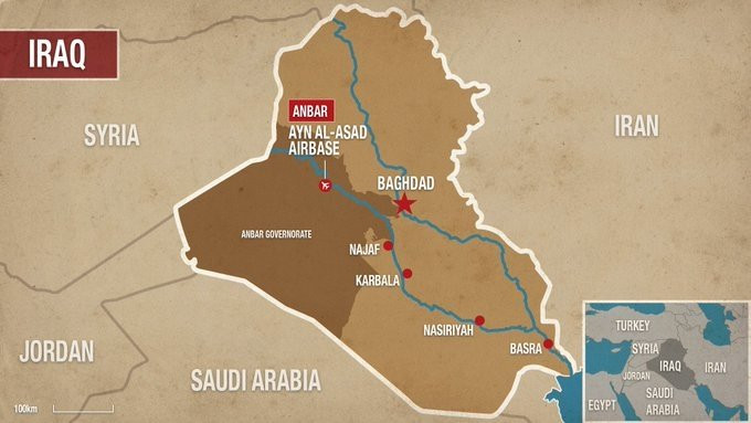 10 misiles impactan base aérea de al Asad, que alberga a decenas de  militares estadounidenses