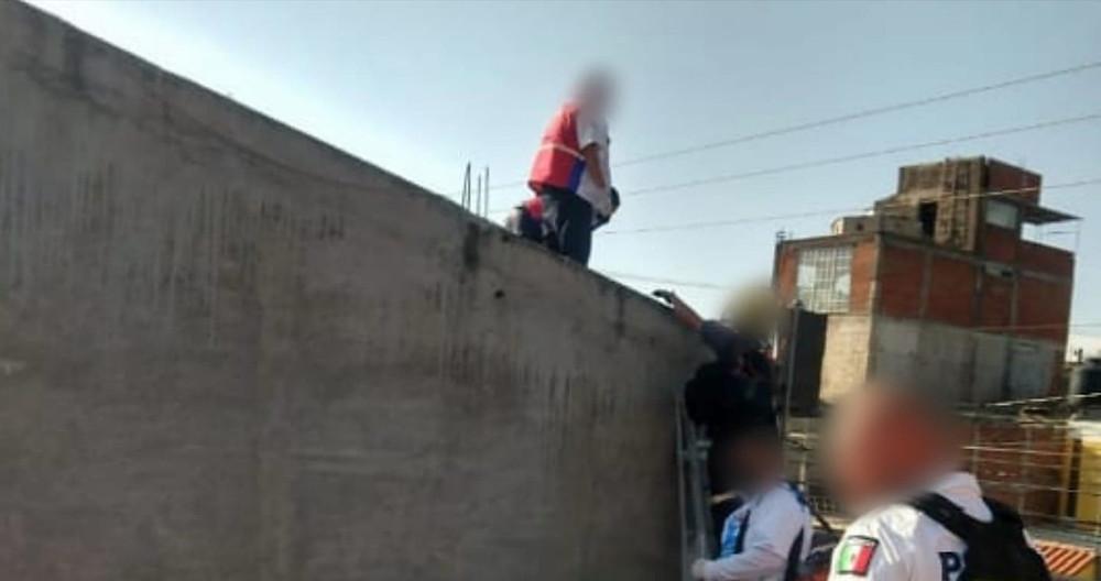 Morelia: Joven albañil sufre descarga eléctrica y queda mal herido