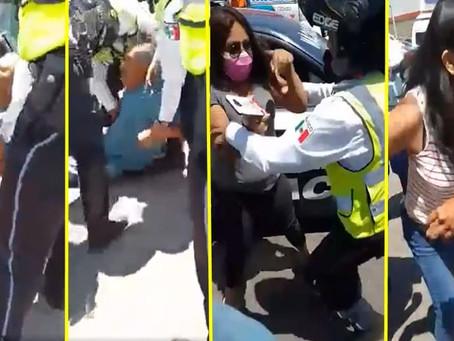 Seguridad Pública de Michoacán investiga a policía tras video donde forcejea con mujeres