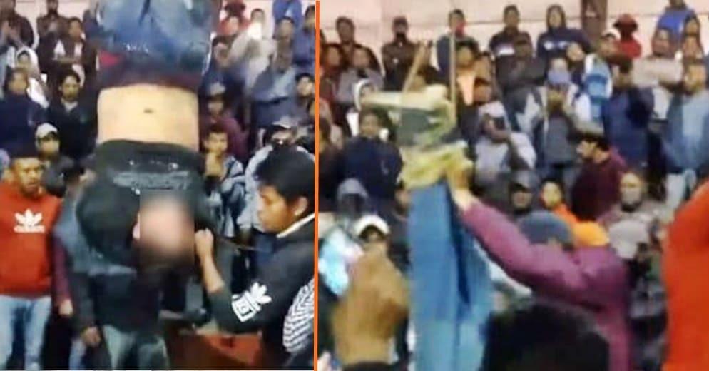 La justicia purépecha: comuneros de Capacuaro intentan linchar a presunto asaltante (+Video)