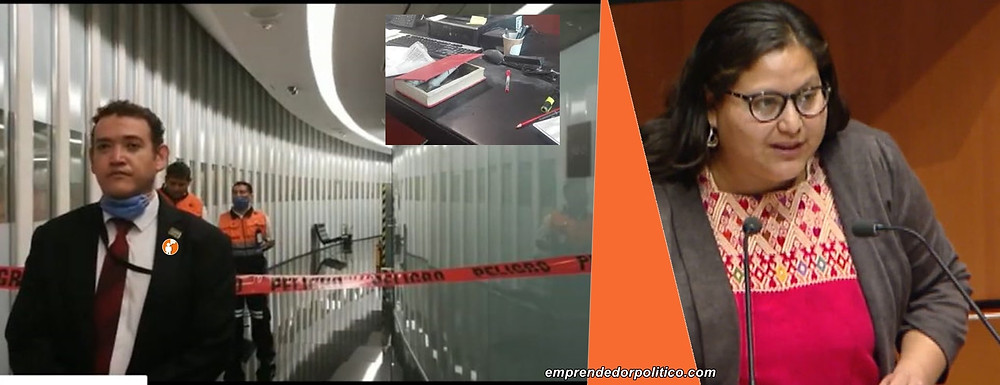 Atentado en el Senado de la República: le explota un libro-bomba a senadora de Morena