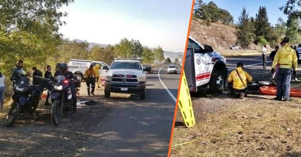 #Morelia: Tras caer auto a barranca, un fallecido y un herido en las inmediaciones de Arko San Pedro