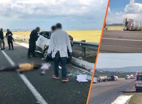 Choque de frente entre SUV y Trailer en la carretera Morelia-Salamanca; un fallecido (+Fotos)