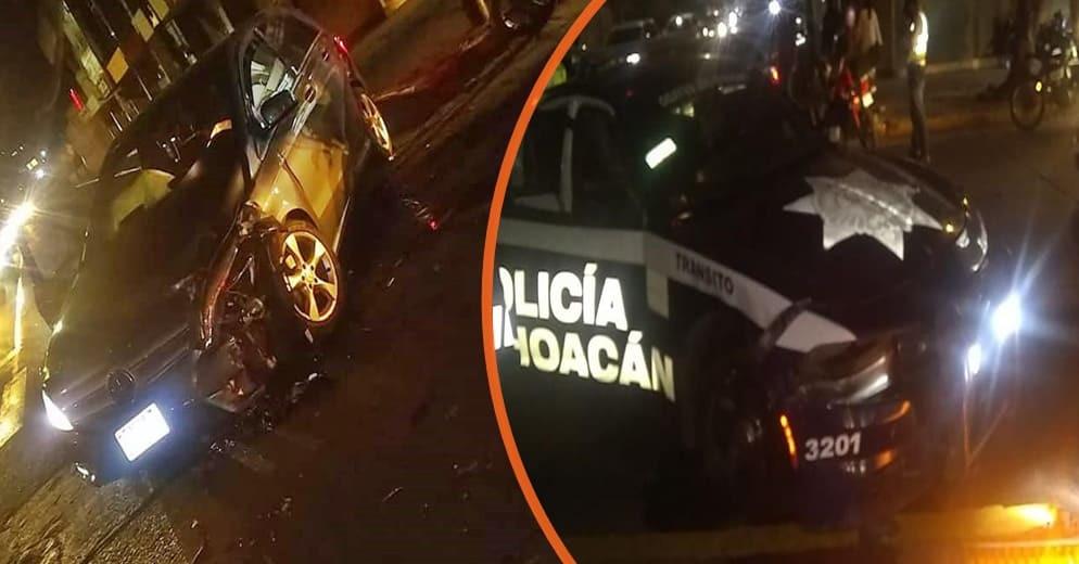 Oficial de tránsito y civil quedan heridos tras protagonizar choque en la Avenida Acueducto (+Video)