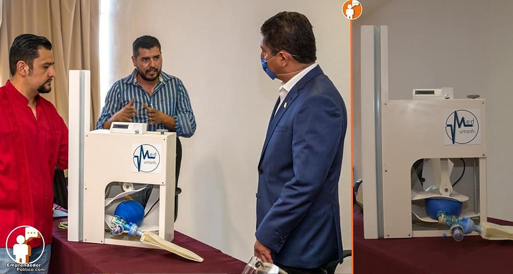#UMSNH: Diseñan prototipo de respirador artificial para enfrentar el COVID-19 (+Video)