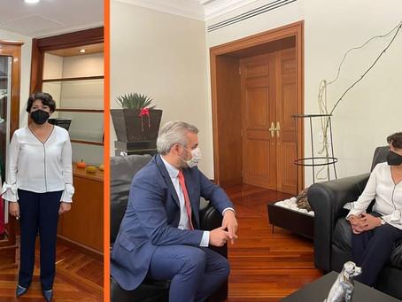 Bedolla gestiona respaldo de la SEP para concretar federalización de nómina
