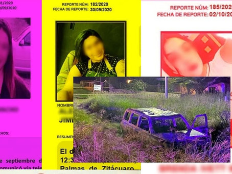 Investigan si en camioneta calcinada con cuerpos en Gto se encuentren 3 michoacanas desaparecidas