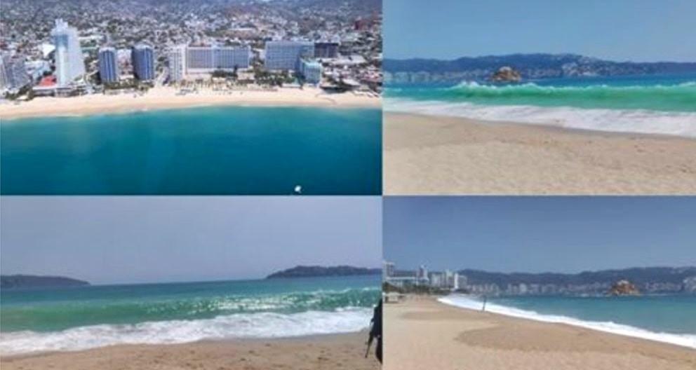¡No! No es el Caribe; así luce Acapulco en plena cuarentena por coronavirus (+Video)