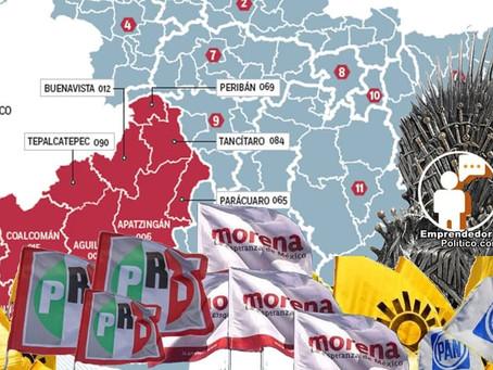 Estos serían los resultados y el mapa político de Michoacán del 2021 según 4 encuestadoras