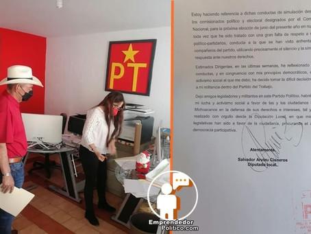 Salvador Arvizu, uno de los perfiles más reconocidos del PT en Morelia renuncia a dicho partido