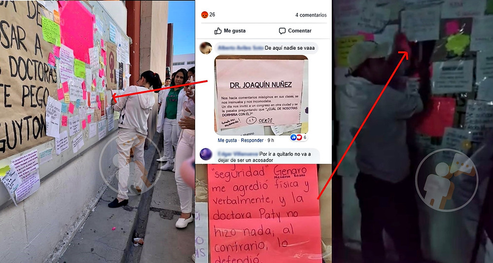 """Estudiantes de medicina denuncian que acusados en el """"Tendedero del acoso"""" mandaron quitar papeletas"""