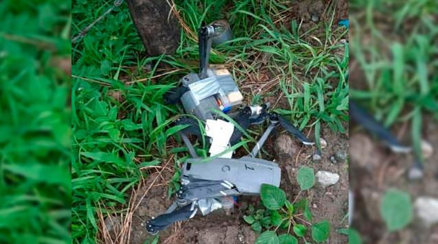 Estos son los drones con explosivos localizados en el sitio del ataque en Tecaltepec