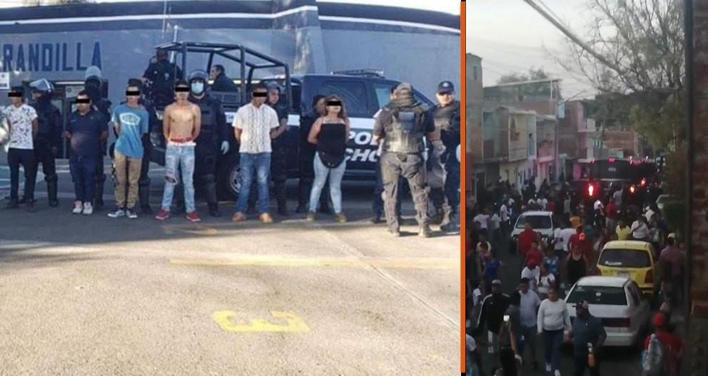 El antes y el después de que saliera un torito de petate este domingo en Morelia; hay 14 detenidos