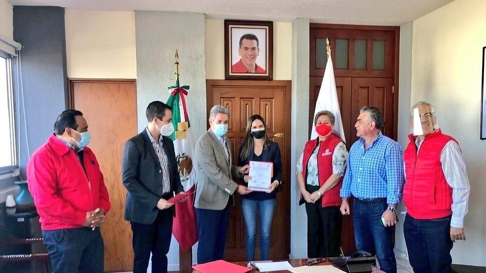 Daniela de los Santos nombrada como Secretaria de la Comisión Estatal de Financiamiento del PRI Mich