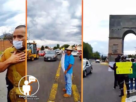Hartos del incremento de huertas irregulares de aguacate, ciudadanos de Zacapu se manifiestan