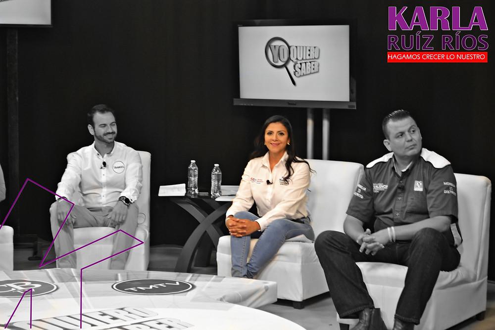 Karla Ruíz fue la única que en vez de descalificaciones, presentó pruebas de denuncias.