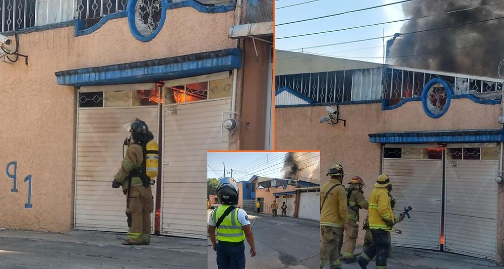 #Morelia: Se incendia vehículo dentro de un domicilio por Sal. Mil Cumbres; solo daños materiales
