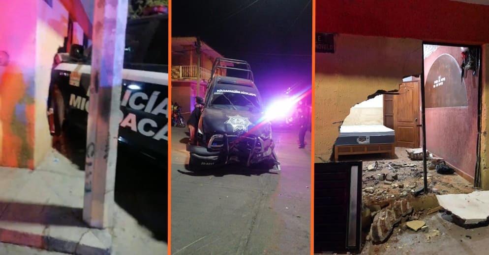 Patrulla destruye vivienda en Morelia; denuncian vecinos que polis los amenazaron (+Video+Fotos)
