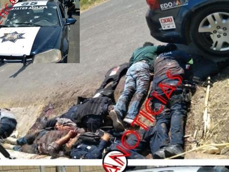 """""""¡Nos están balaceando!"""" Sicarios EMBOSCAN y MASACRAN a 13 policías de Edomex (+Video+Audios)"""