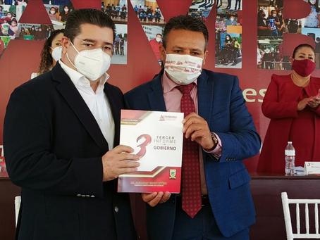 Rinde su Tercer Informe de Gobierno el Presidente Municipal Alejandro Tirado Zúñiga