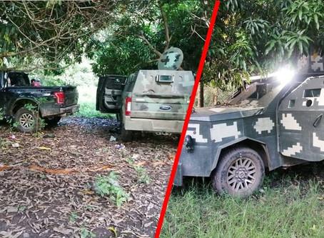 #Michoacán: De nueva cuenta, decomisan 3 Monstruos del Grupo Élite De Mencho (+Fotos)