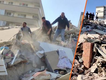 POTENTE SISMO de magnitud 7 sacude Turquía; edificios colapsaron (+Videos)
