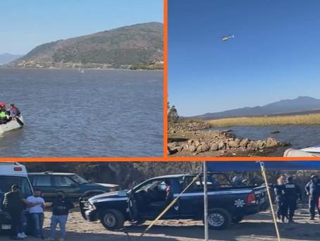 """Por """"aire y agua"""", Revolución Social continua con la búsqueda de desaparecidos en Lago de Pátzcuaro"""
