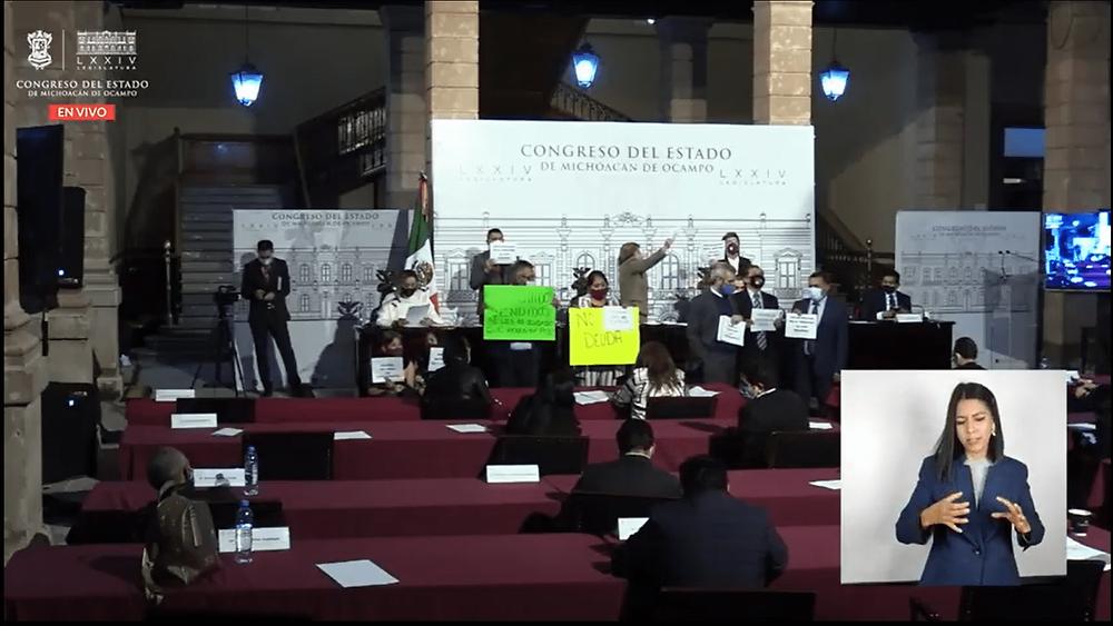 Pese a votos en contra de diputados morenistas, Congreso aprueba millonaria deuda para Michoacán