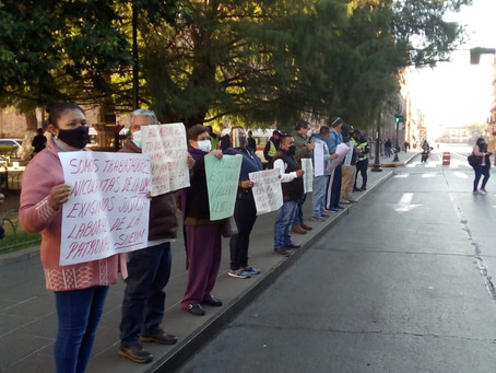 SUEUM cumple con acciones de protesta ante la aún todavía falta de pagos