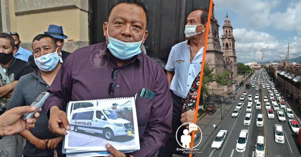 Organizaciones de transportistas en Michoacán se manifiestan contra COCOTRA; exigen auditoria