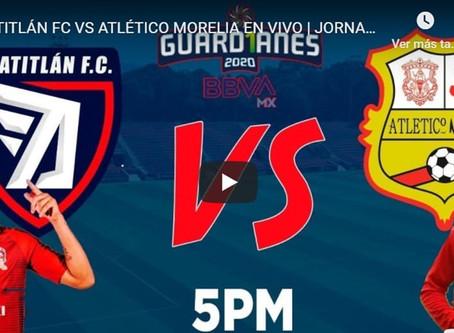 En este link puedes sintonizar el encuentro del Atlético Morelia vs Tepatilán