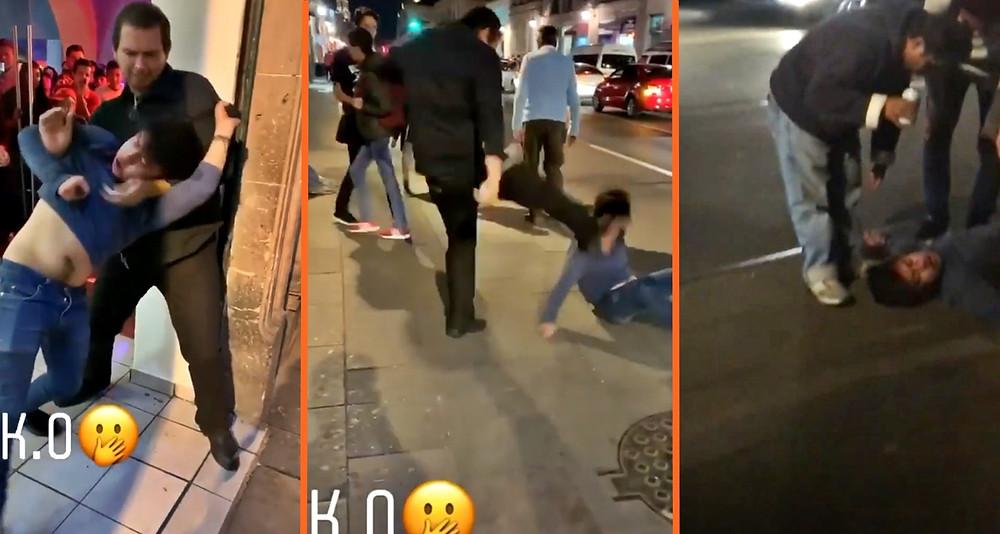 Se viraliza video de golpiza a chavito borracho por guardia de bar de #Morelia (+Videos)