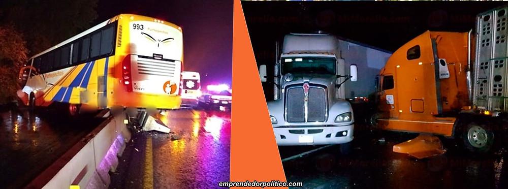 Se registran tres accidentes automovilísticos en la Morelia-Pátzcuaro; + de 14 lesionados