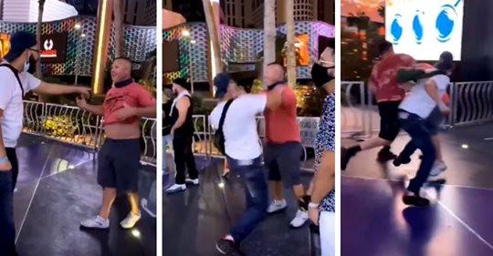 """Mexicanos dan golpiza a gringo racista después de haberlos llamado """"Sucios"""" en las Vegas (+Video)"""