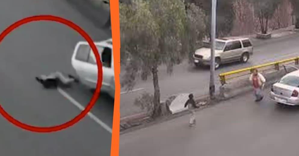 Niño sale 'volando' de auto en movimiento, en carretera de México (+Video)