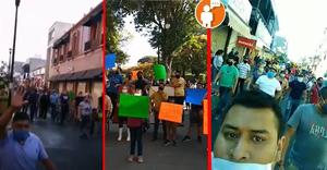 Decenas de comerciantes marchan en calles de Zamora para protestar contra las medidas del COVID-19