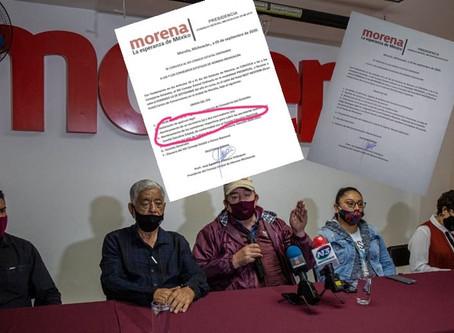 Recula actual presidente del Consejo de Morena Michoacán, ante regañadientes de Morena Nacional
