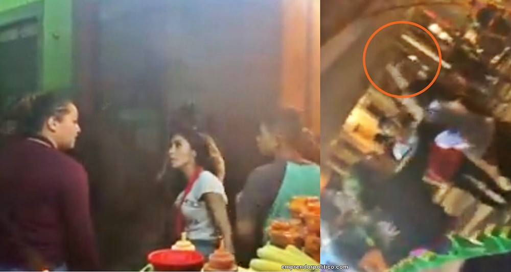A golpes y elotazos, captan en video pelea entre comerciantes ambulantes en #Morelia